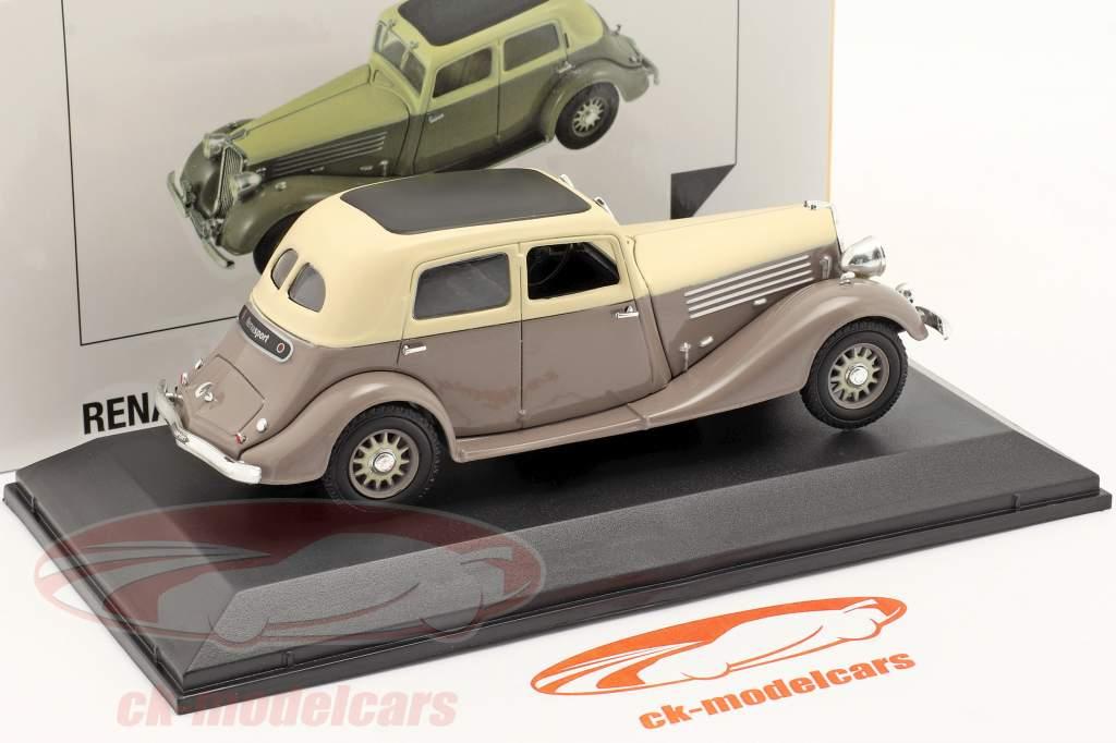 Renault Nervasport Byggeår 1932-1935 Brun / beige 1:43 Norev