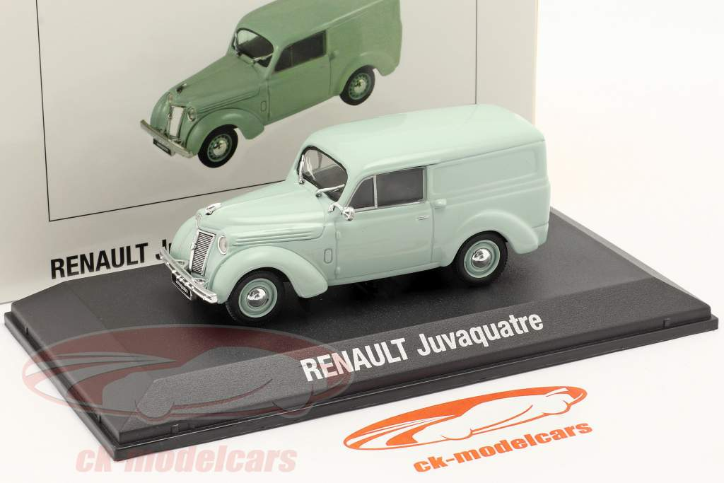 Renault Juvaquatre bouwjaar 1937 muntgroen 1:43 Norev