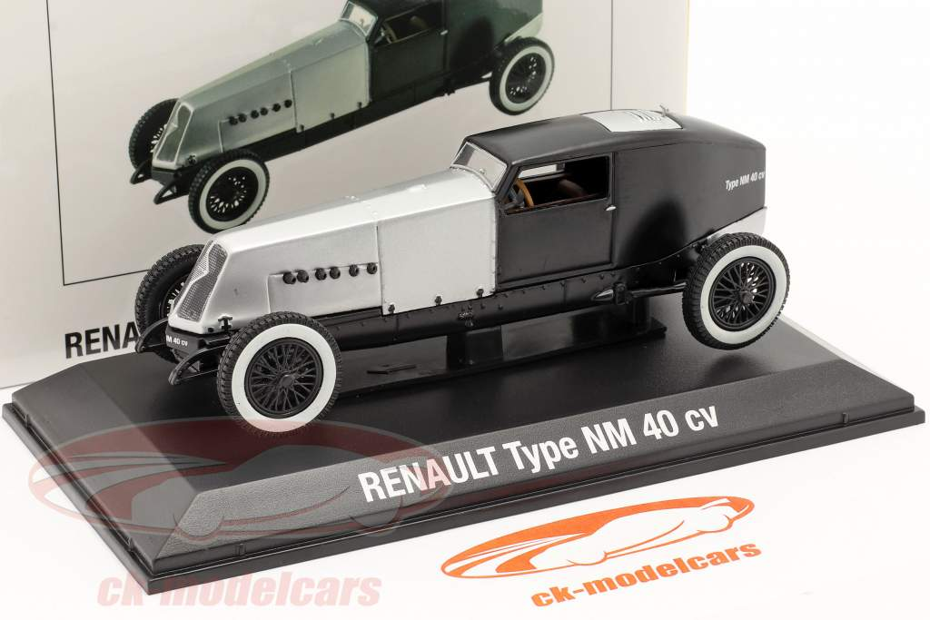 Renault Type NM 40 CV Año de construcción 1925-1928 plata / negro 1:43 Norev