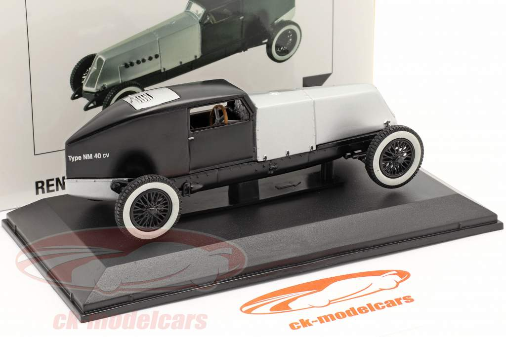 Renault Type NM 40 CV bouwjaar 1925-1928 zilver / zwart 1:43 Norev