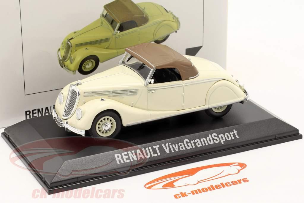 Renault Viva Grand Sport Ano de construção 1935-1939 creme Branco / Castanho 1:43 Norev