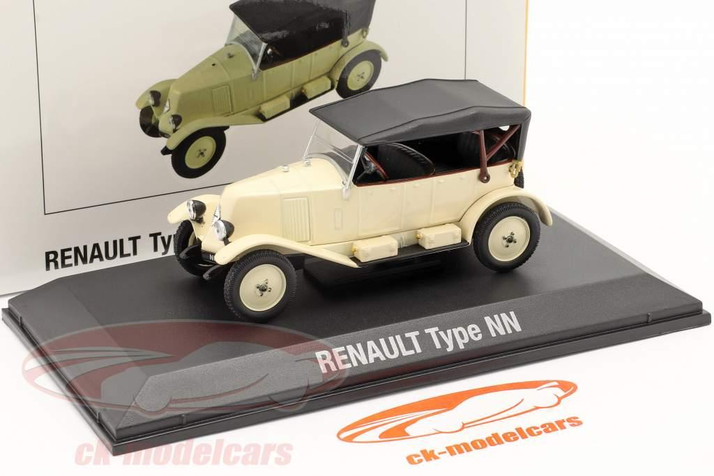 Renault 6CV Type NN Torpedo Baujahr 1925 creme weiß / schwarz 1:43 Norev