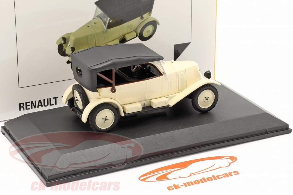 Renault 6CV Type NN Torpedo Anno di costruzione 1925 crema bianca / Nero 1:43 Norev