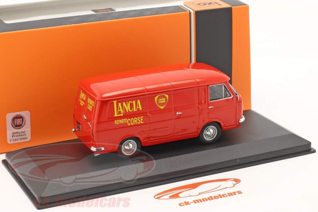 Fiat 238 Van 1972 Rallye serviço Lancia Motorsport vermelho 1:43 Ixo