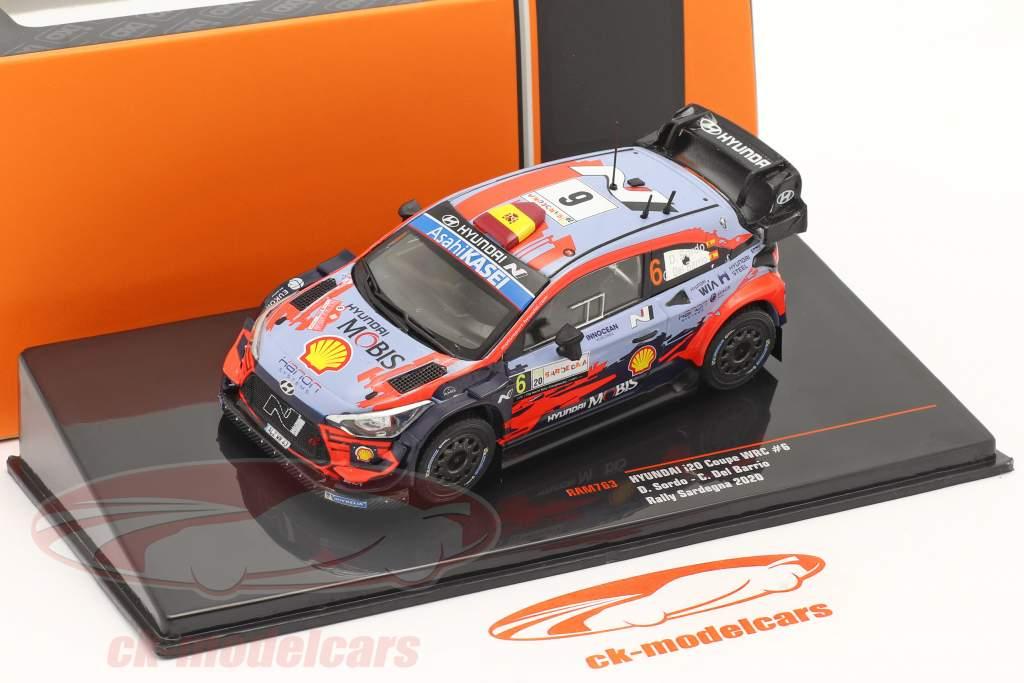 Hyundai i20 Coupe WRC #6 Winner Rally Sardinia 2020 Sordo, Del Barrio 1:43 Ixo