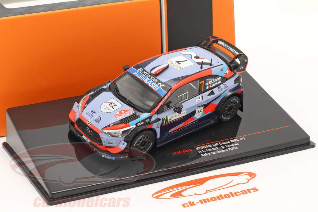 Hyundai i20 Coupe WRC #7 Rallye Sardaigne 2020 Loubet, Landais 1:43 Ixo