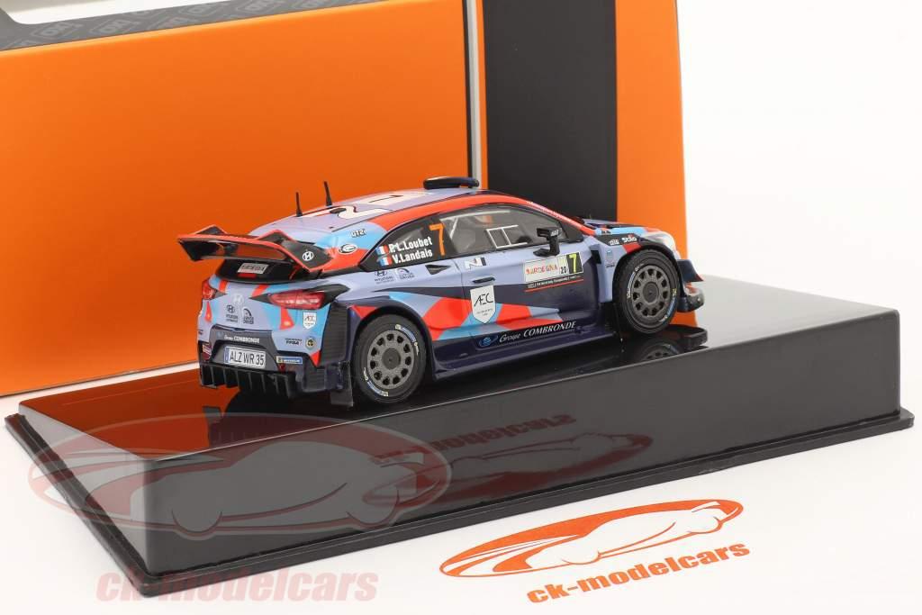 Hyundai i20 Coupe WRC #7 Rallye Sardinië 2020 Loubet, Landais 1:43 Ixo