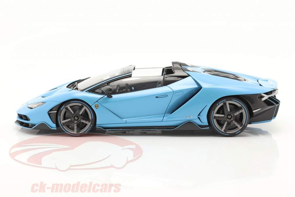 Lamborghini Centenario Roadster Byggeår 2016 Lyseblå 1:18 AUTOart