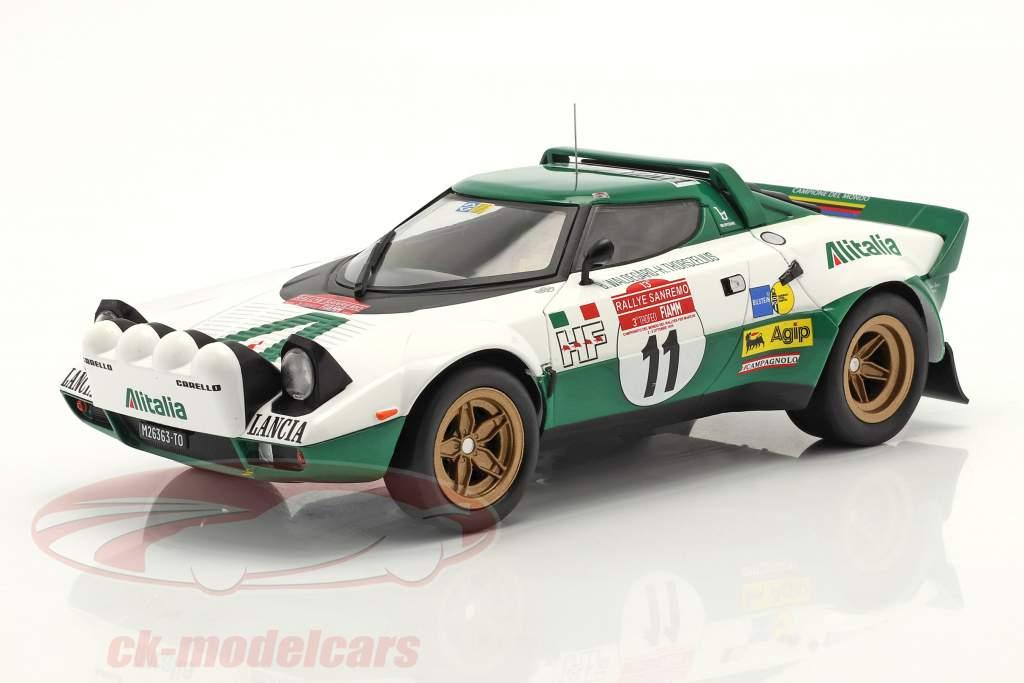 Lancia Stratos HF #11 Vincitore Rallye San Remo 1975 Waldegard,Thorszelius 1:18 Ixo