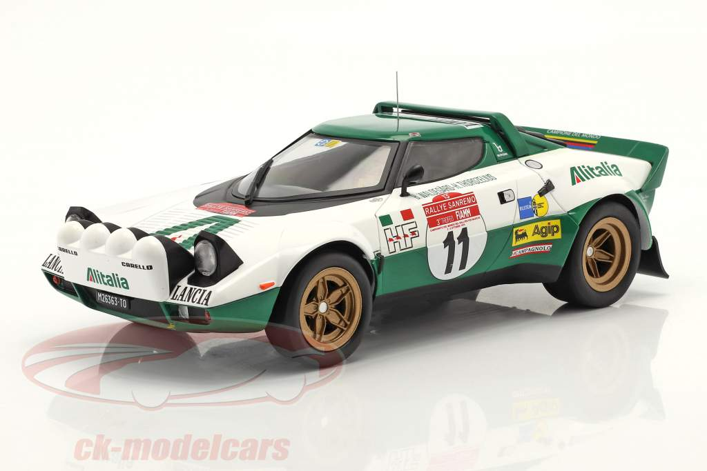 Lancia Stratos HF #11 Vinder Rallye San Remo 1975 Waldegard,Thorszelius 1:18 Ixo