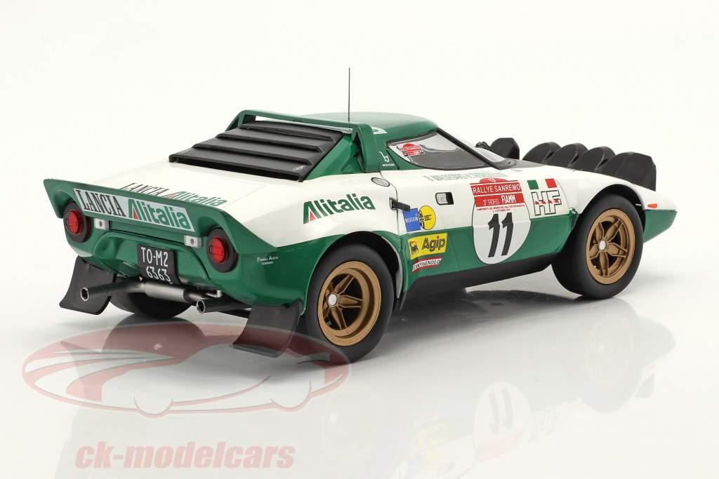 Lancia Stratos HF #11 优胜者 Rallye San Remo 1975 Waldegard,Thorszelius 1:18 Ixo
