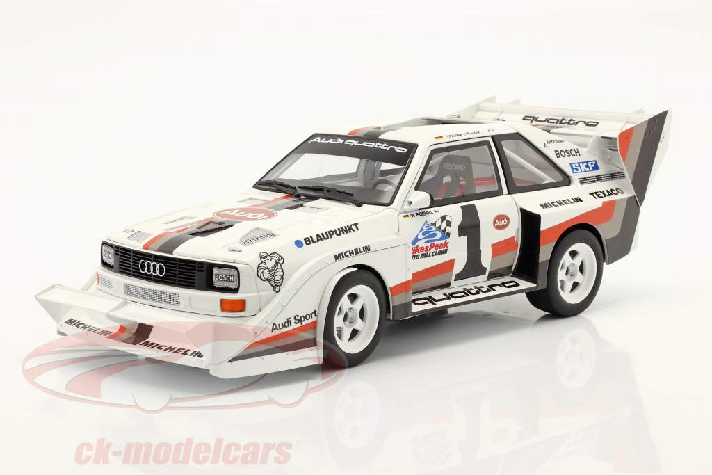 Audi Sport quattro S1 E2 #1 Ganador Pikes Peak 1987 Walter Röhrl 1:18 AUTOart