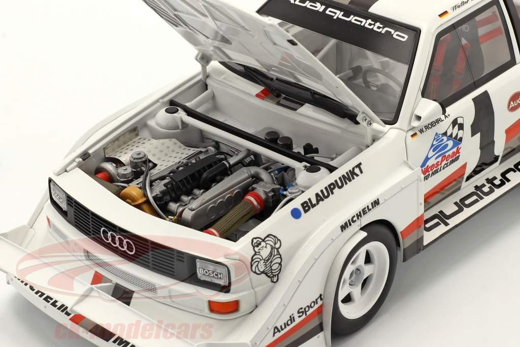 Audi Sport quattro S1 E2 #1 Vinder Pikes Peak 1987 Walter Röhrl 1:18 AUTOart