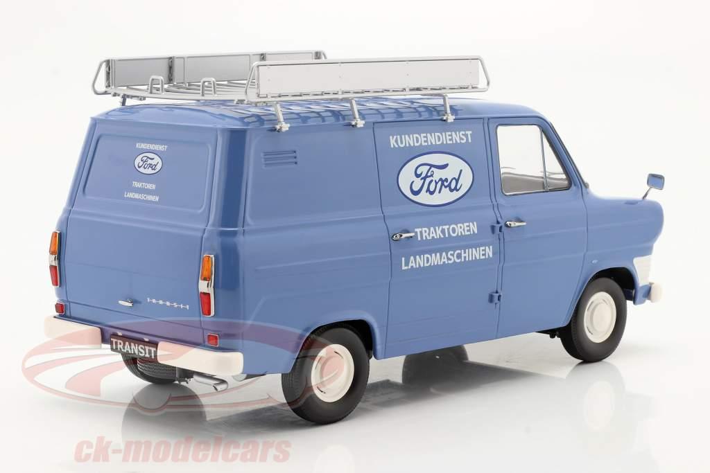 Ford Transit Kastenwagen Ford Kundendienst Baujahr 1970 hellblau 1:18 KK-Scale