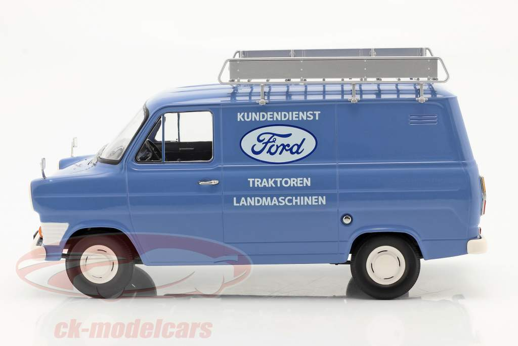 Ford Transit Bestelwagen Ford Klantenservice bouwjaar 1970 Lichtblauw 1:18 KK-Scale