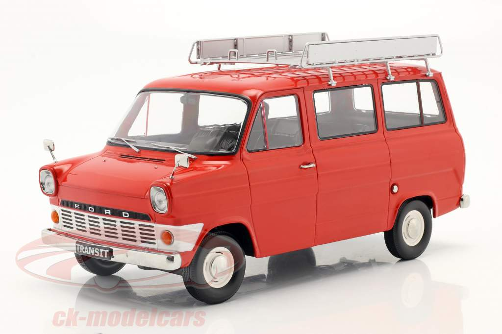 Ford Transit Bus Byggeår 1965 Rød 1:18 KK-Scale