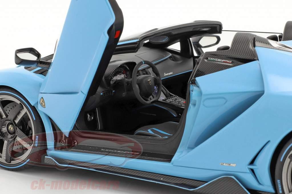 Lamborghini Centenario Roadster Baujahr 2016 hellblau 1:18 AUTOart
