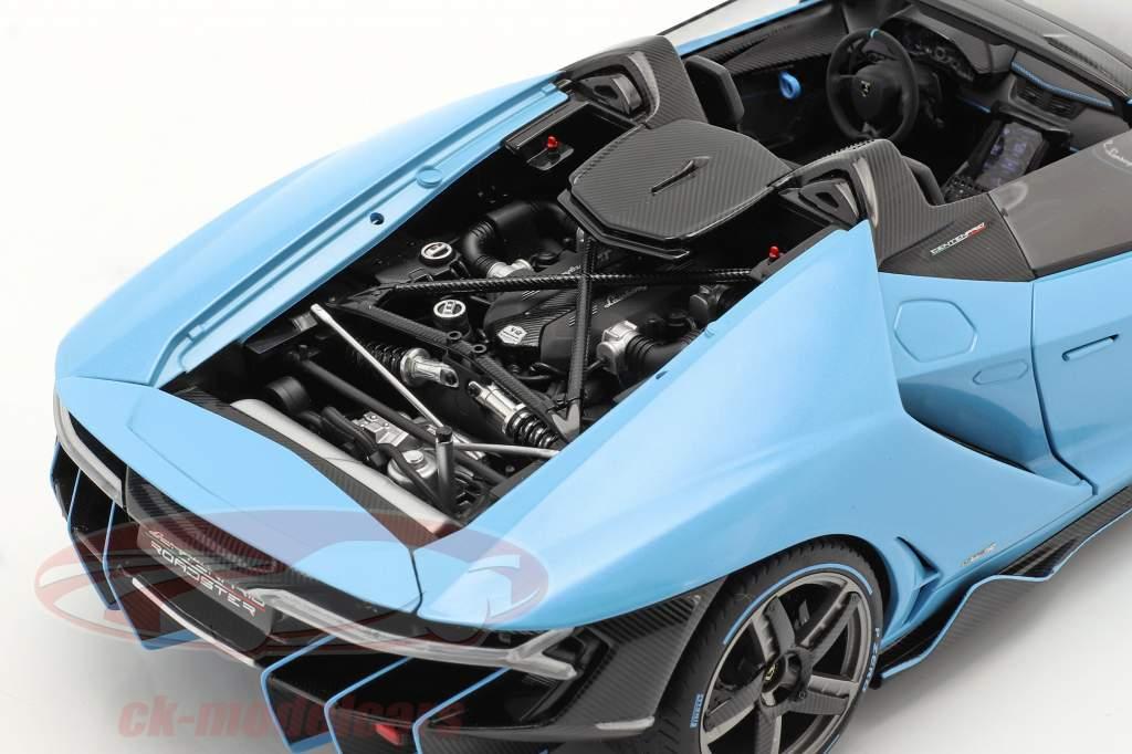 Lamborghini Centenario Roadster year 2016 light blue 1:18 AUTOart