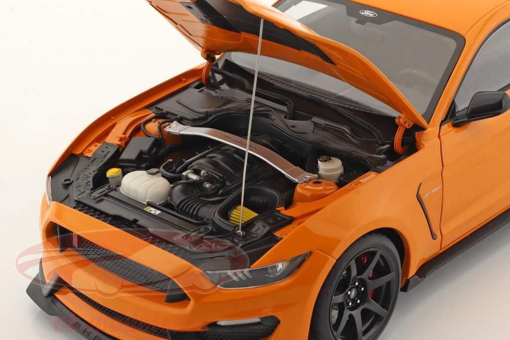 Ford Shelby GT-350R Année de construction 2017 Orange 1:18 AUTOart