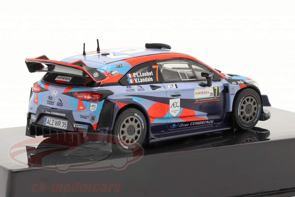 Hyundai i20 Coupe WRC #7 Rallye Sardinien 2020 Loubet, Landais 1:43 Ixo