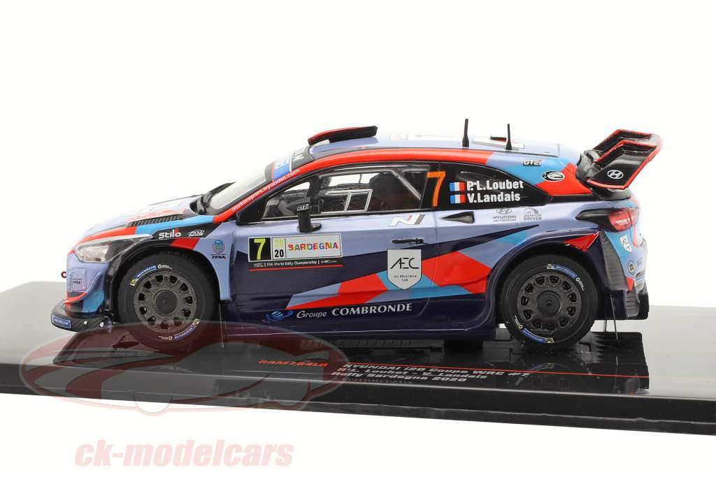 Hyundai i20 Coupe WRC #7 Rallye Sardenha 2020 Loubet, Landais 1:43 Ixo