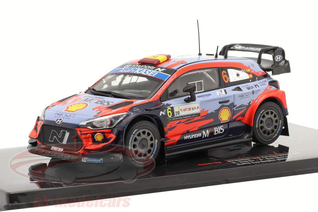 Hyundai i20 Coupe WRC #6 Vinder Rallye Sardinien 2020 Sordo, Del Barrio 1:43 Ixo
