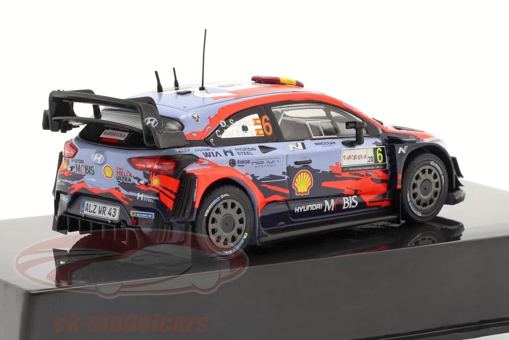 Hyundai i20 Coupe WRC #6 Winner Rallye Sardinien 2020 Sordo, Del Barrio 1:43 Ixo