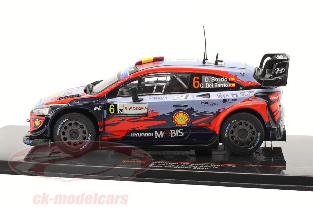 Hyundai i20 Coupe WRC #6 Vencedora Rallye Sardenha 2020 Sordo, Del Barrio 1:43 Ixo