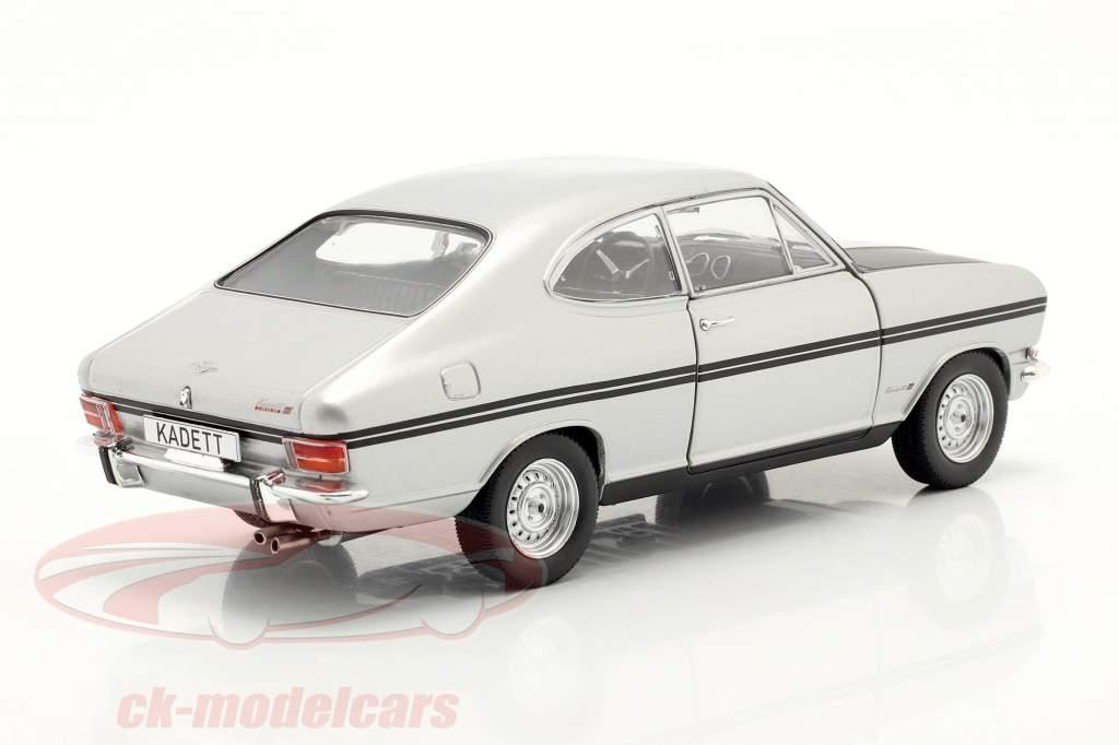 Opel Kadett B Rallye 银 / 磨砂 黑色的 1:24 WhiteBox