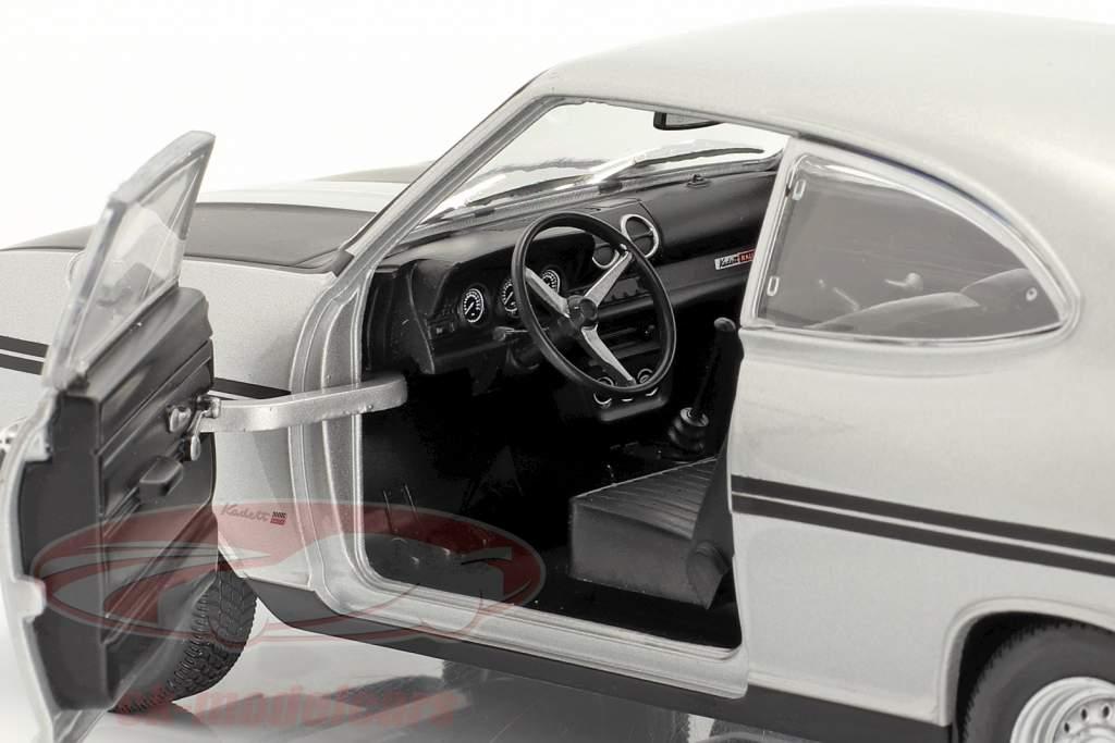 Opel Kadett B Rallye plata / escarchado negro 1:24 WhiteBox