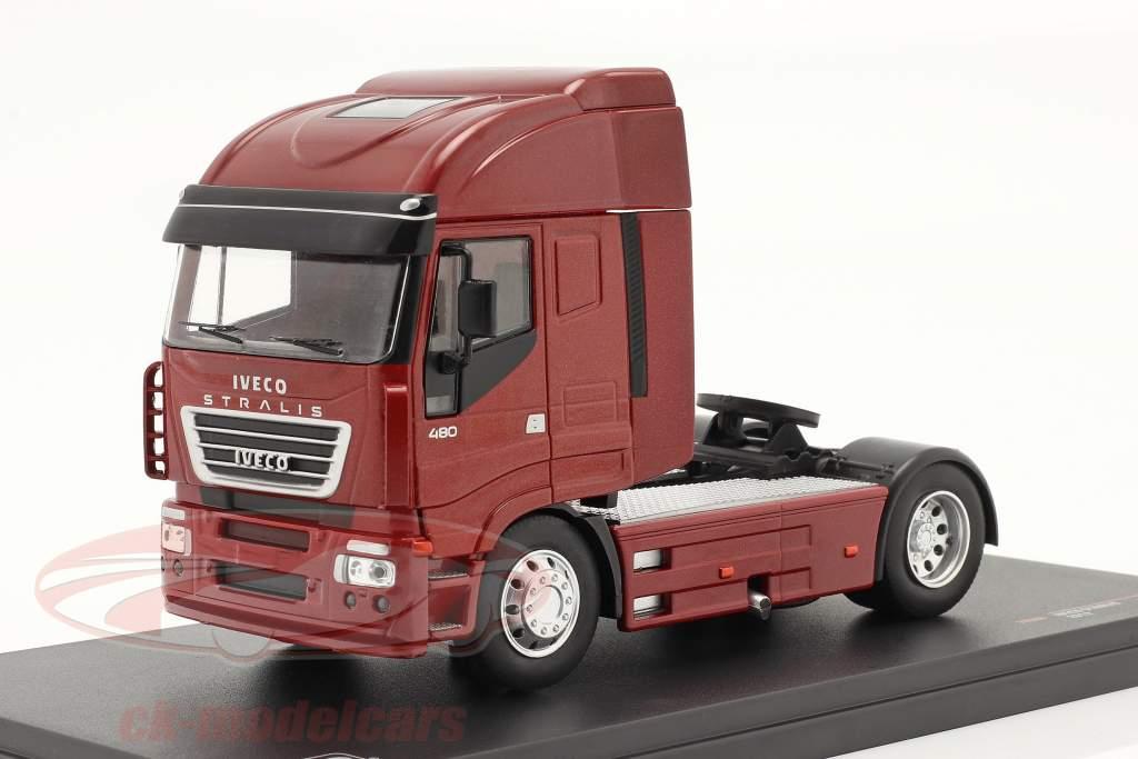 Iveco Stralis Anno di costruzione 2012 rosso metallico 1:43 Ixo