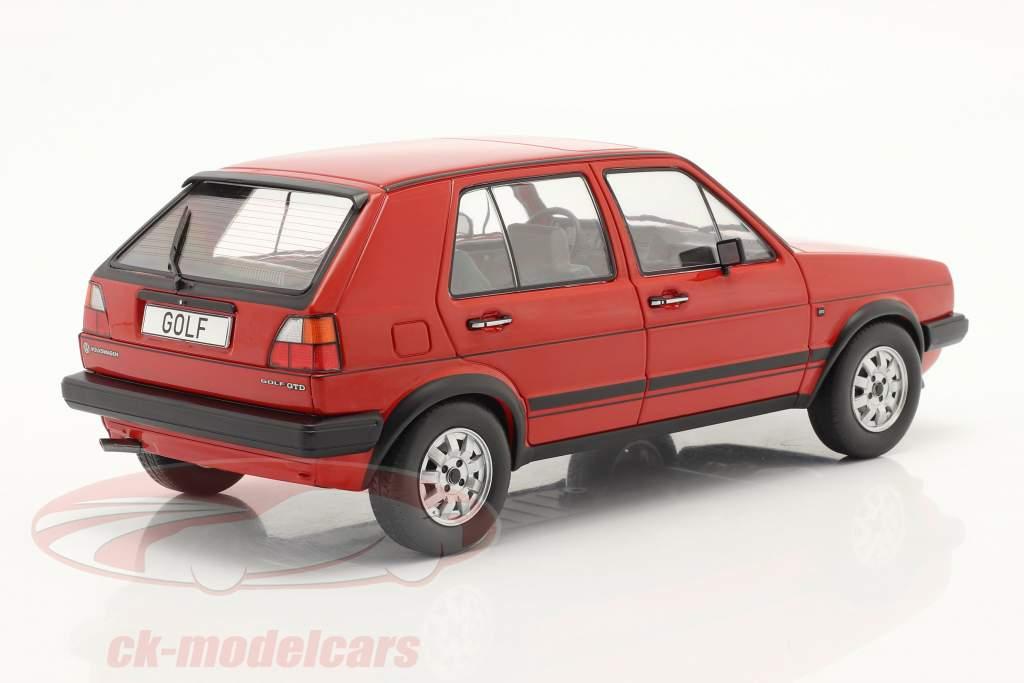 Volkswagen VW Golf II GTD 5-dørs Byggeår 1984 Rød 1:18 Model Car Group