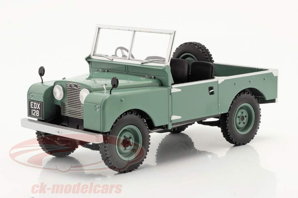 Land Rover Series I RHD 没有 敞篷车顶 建设年份 1957 浅绿色 1:18 Model Car Group
