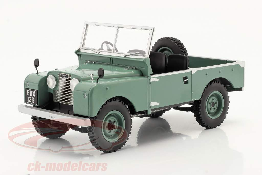 Land Rover Series I RHD sans pour autant Capote Année de construction 1957 vert clair 1:18 Model Car Group