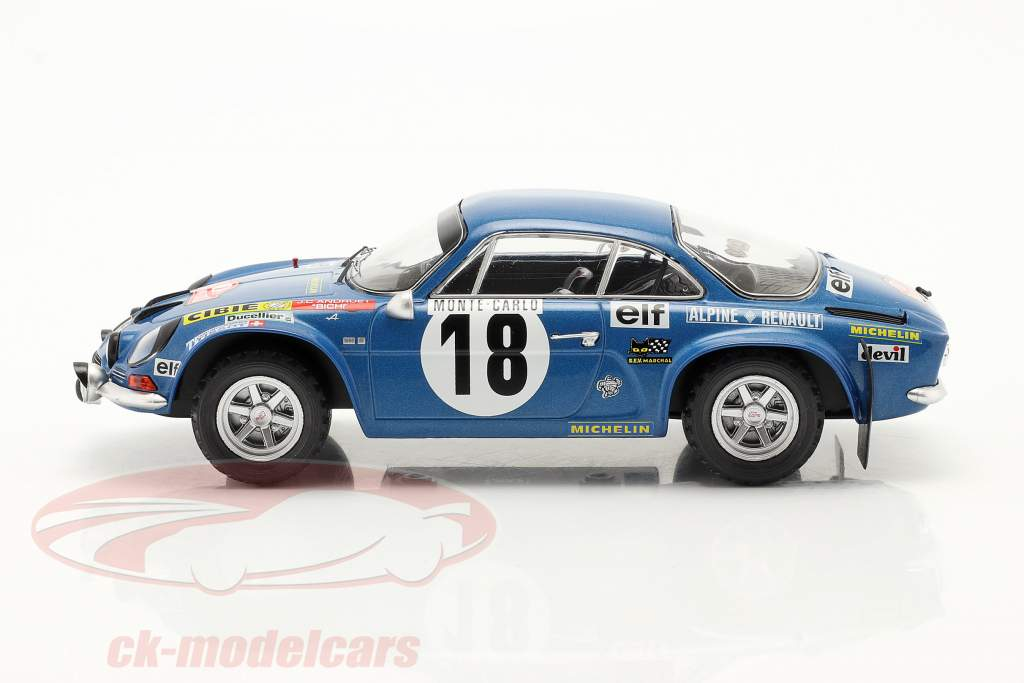 Alpine Renault A110 #18 Gagnant Rallye Monte Carlo 1973 Andruet, Biche 1:24 Ixo