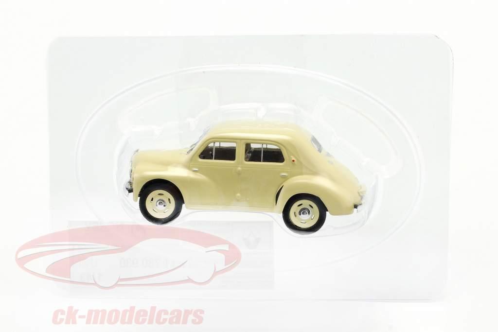 Renault 4CV Byggeår 1947 fløde hvid 1:43 Norev