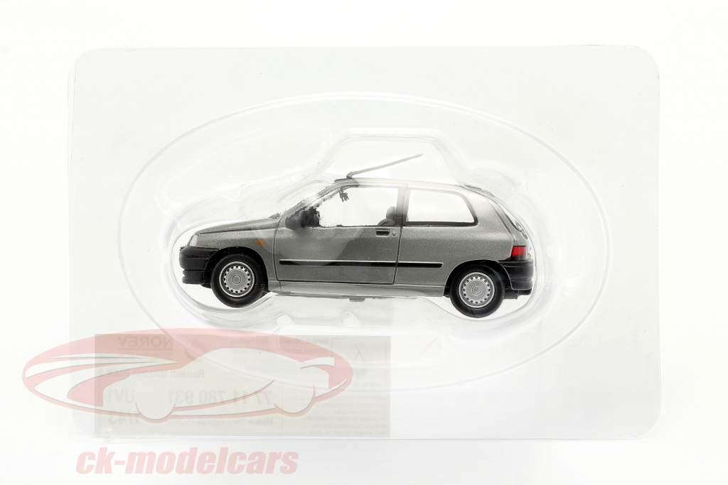 Renault Clio Año de construcción 1990 plata metálico 1:43 Norev