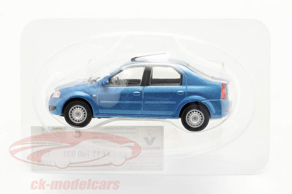 Renault Logan year 2005 blue metallic 1:43 Norev