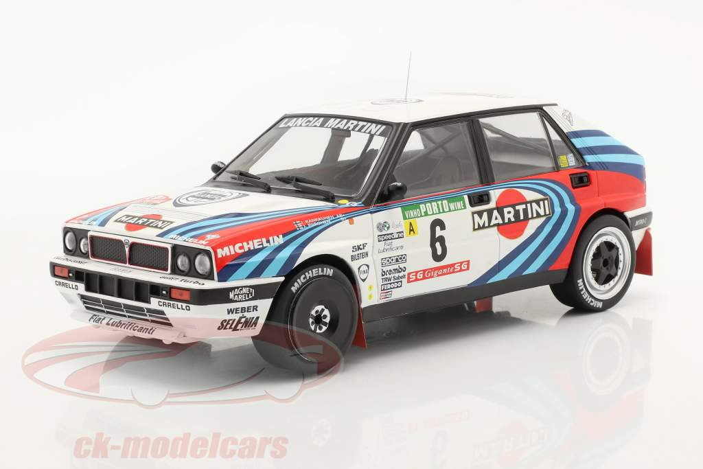 Lancia Delta Integrale 16V #6 3rd Rallye Portugal 1990 Kankkunen, Piironen 1:18 Ixo