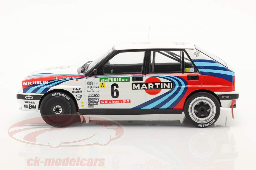 Lancia Delta Integrale 16V #6 Tercero Rallye Portugal 1990 Kankkunen, Piironen 1:18 Ixo