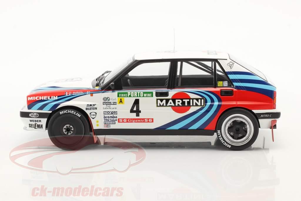 Lancia Delta Integrale 16V #4 2e Rallye Portugal 1990 Auriol, Occelli 1:18 Ixo