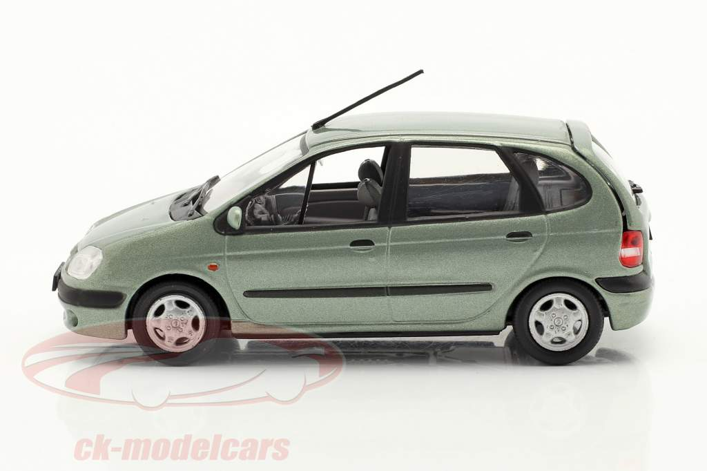 Renault Scenic Année de construction 1999 vert gris métallique 1:43 Norev