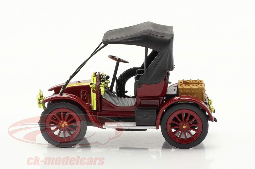 Renault Type AX Byggeår 1908-1913 mørk Rød / sort 1:43 Norev