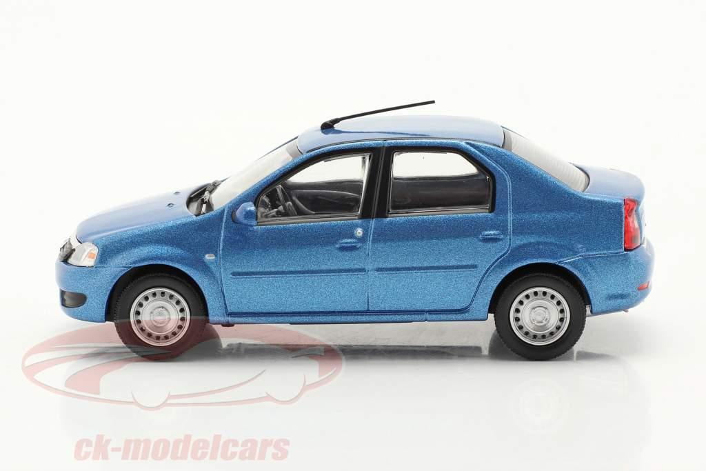 Renault Logan Año de construcción 2005 azul metálico 1:43 Norev
