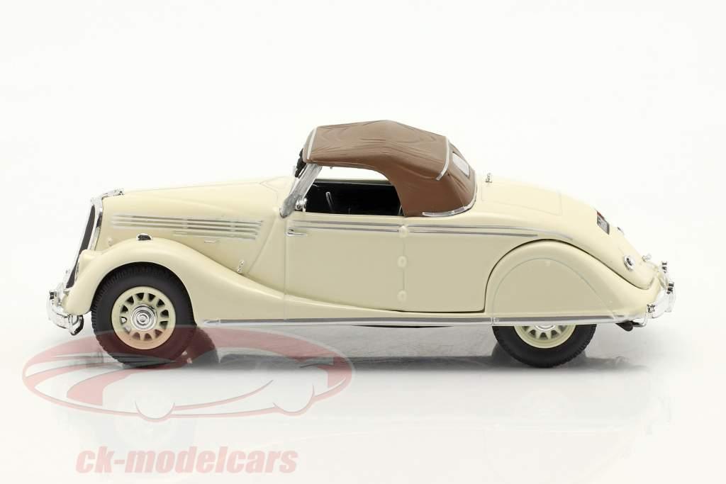 Renault Viva Grand Sport bouwjaar 1935-1939 Room wit / bruin 1:43 Norev