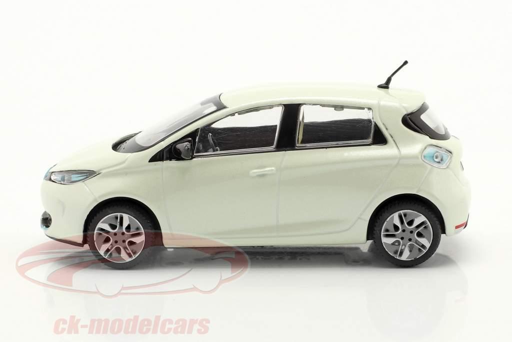 Renault Zoe Ano de construção 2013 Branco metálico 1:43 Norev