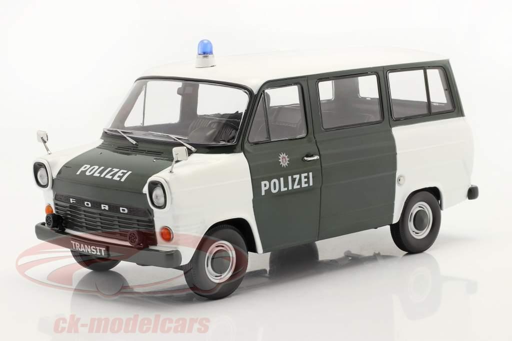 Ford Transit Bus politi Hamburg Byggeår 1965 mørkegrøn / hvid 1:18 KK-Scale