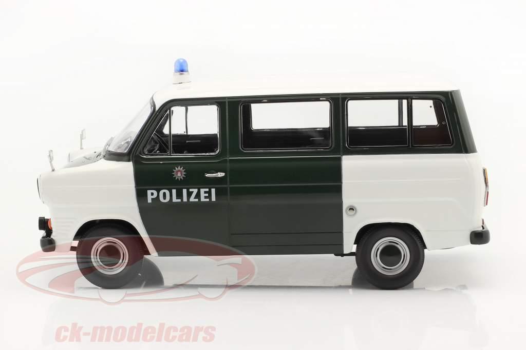 Ford Transit Bus policía Hamburg Año de construcción 1965 verde oscuro / blanco 1:18 KK-Scale