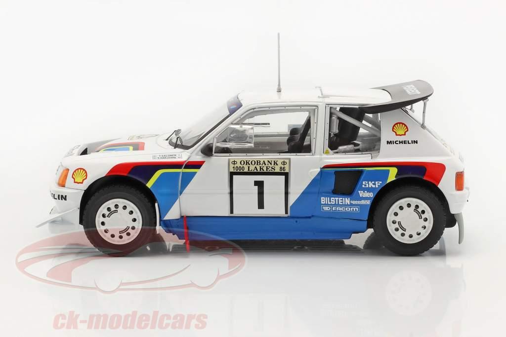 Peugeot 205 T16 E2 #1 Winnaar Rallye 1000 Lakes 1986 Salonen, Harjanne 1:24 Ixo