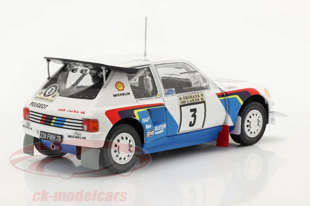 Peugeot 205 T16 E2 #3 2nd Rally 1000 Lakes 1986 Kankkunen, Piironen 1:24 Ixo